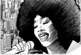 jazz singer Pixerstick Sticker