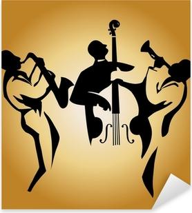 jazz trio Pixerstick Sticker