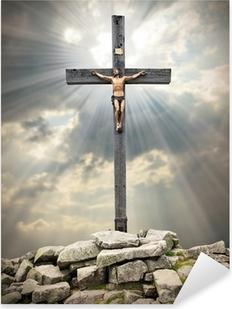 Jesus Christ on The Cross. Pixerstick Sticker