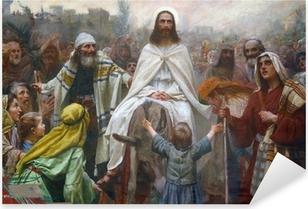 Jesus on Palm Sunday Pixerstick Sticker