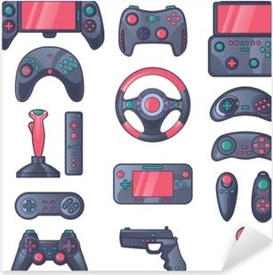 Sticker Pixerstick Jeu d'icônes de couleur de gadget