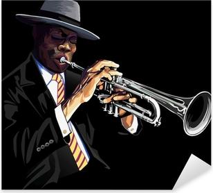 Sticker Pixerstick Joueur de trompette