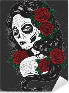 Sticker Pixerstick Journée d'illustration tattoo girl morts