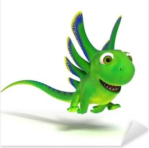 Jumping lizard Pixerstick Sticker