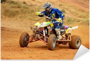 Pixerstick Sticker Kampioenschap van cross quad.