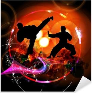 Karate illustration Pixerstick Sticker