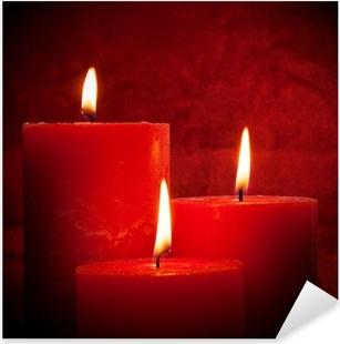 Kerzenschein Pixerstick Sticker