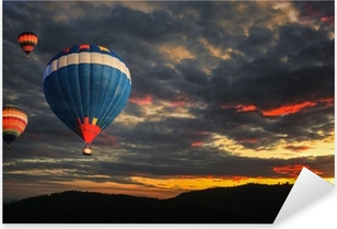 Pixerstick Sticker Kleurrijke hete luchtballon