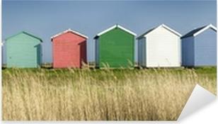 Pixerstick Sticker Kleurrijke strandhuisjes