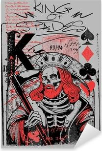 Pixerstick Sticker Koning van schoppen