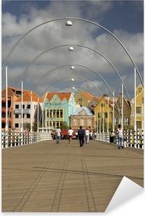 Pixerstick Sticker Koningin Emma ponton brug Willemstad, Curaçao