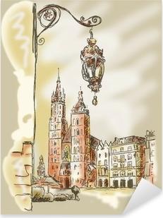 Krakau Rynek Pixerstick Sticker