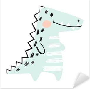 Pixerstick Sticker Krokodil baby schattige print set. dinosaurus. cool Afrikaans dier