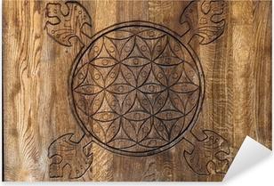 Sticker Pixerstick La fleur de la vie - un ancien symbole de la géométrie sacrée