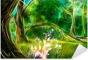Sticker Pixerstick La forêt magique