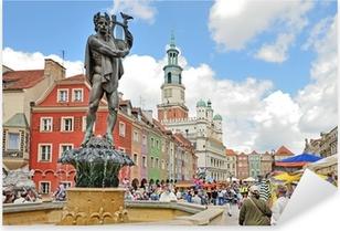 Sticker Pixerstick La place du marché, Poznan, Pologne