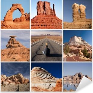 Sticker Pixerstick La route de l'Arizona et de l'Utah