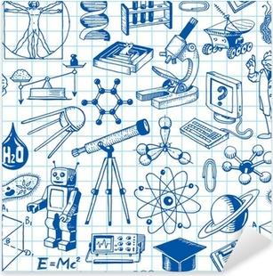 Sticker Pixerstick La science et de l'éducation Seamless