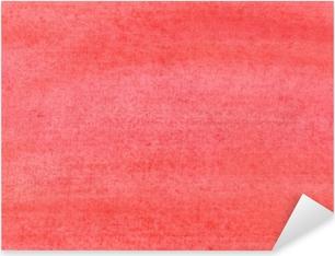 Sticker Pixerstick La texture d'une feuille de papier peinte avec de la peinture rouge