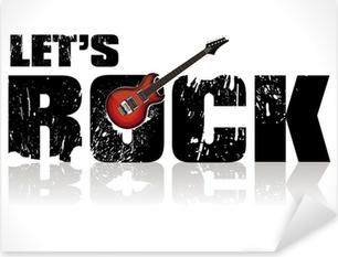 Pixerstick Sticker Laat rock achtergrond met gitaar