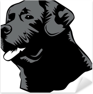 labrador head Pixerstick Sticker