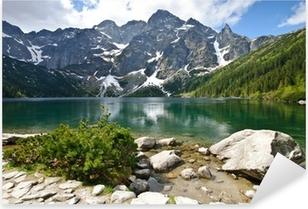 Sticker Pixerstick Lac Morskie Oko dans les montagnes Tatras, Pologne
