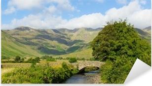 Lake District panorama Mickleden Beck river Langdale Valley Pixerstick Sticker