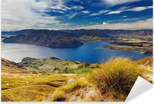 Pixerstick Sticker Lake Wanaka Nieuw-Zeeland
