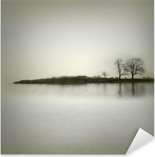 Landscape in sepia tones Pixerstick Sticker