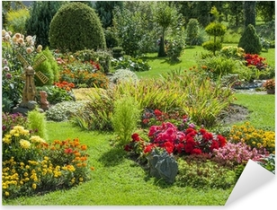 Landscaped flower garden Pixerstick Sticker