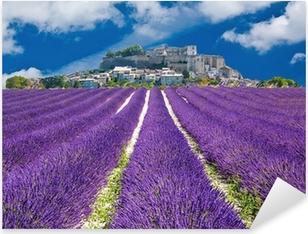 Sticker Pixerstick Lavande en Provence, village provençal en France