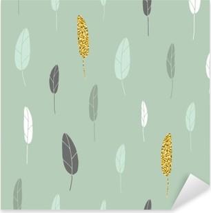 Leaf pattern. Pixerstick Sticker