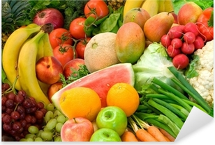 Sticker Pixerstick Légumes et Fruits Arrangement