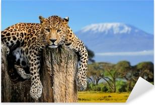 Leopard Pixerstick Sticker
