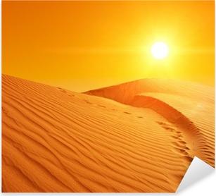 Sticker Pixerstick Les dunes de sable au Sahara