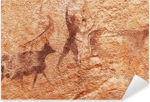 Sticker Pixerstick Les peintures rupestres du Tassili N'Ajjer, en Algérie