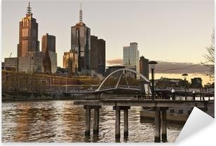 Sticker Pixerstick Les toits de Melbourne