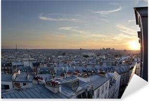 Sticker Pixerstick Les toits de Paris