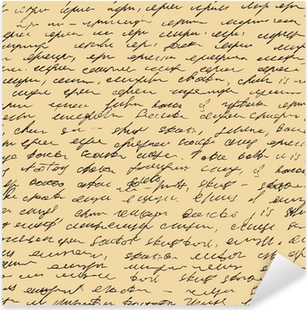 Letter pattern. Script seamless background. Sketch of writing Pixerstick Sticker