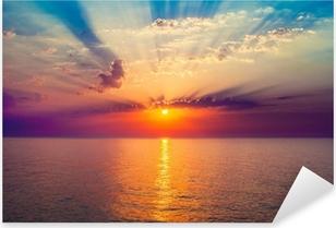 Sticker Pixerstick Lever de soleil dans la mer