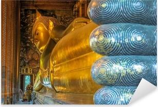 Pixerstick Sticker Liggende Boeddha, Wat Pho, Bangkok, Thailand
