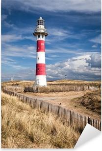 Lighthouse in Nieuwpoort. Belgium. Pixerstick Sticker