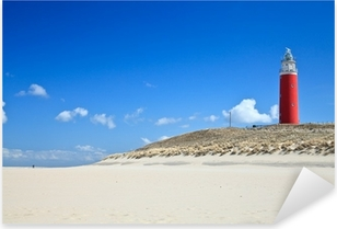 Lighthouse in the dunes at the beach Pixerstick Sticker
