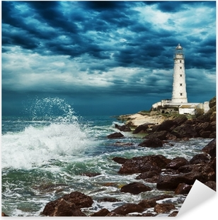 Lighthouse sits on the edge of the Crimean peninsula Pixerstick Sticker