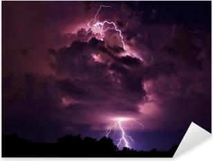 Lightning strike Pixerstick Sticker