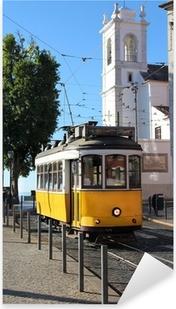 Lisbon tram Pixerstick Sticker