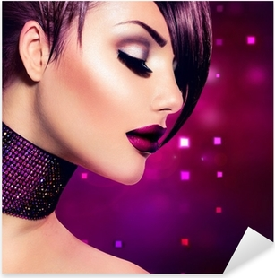Sticker Pixerstick Location femme maquillage. Mode Beauté Girl Fashion