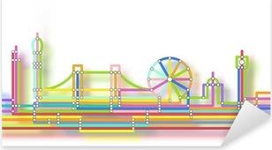 London skyline glow Pixerstick Sticker