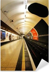 london underground platform Pixerstick Sticker