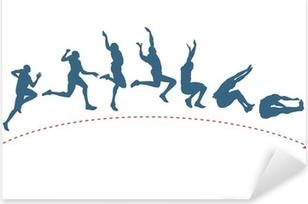 Long jump trajectory Pixerstick Sticker